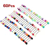 60 X Ball Tongue Nipple Bar Ring Barbell Body Piercing