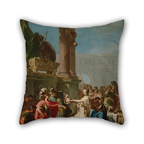 Throw Pillow Case Of Oil Painting Giovanni Battista Pittoni - The Sacrifice Of Polyxena 18 X 18 Inches / 45 By 45 Cm Best Fit For Floor Kids Boys Sofa Floor Dining Room Adults 2 Sides (Del Mar Sectional Sofa)