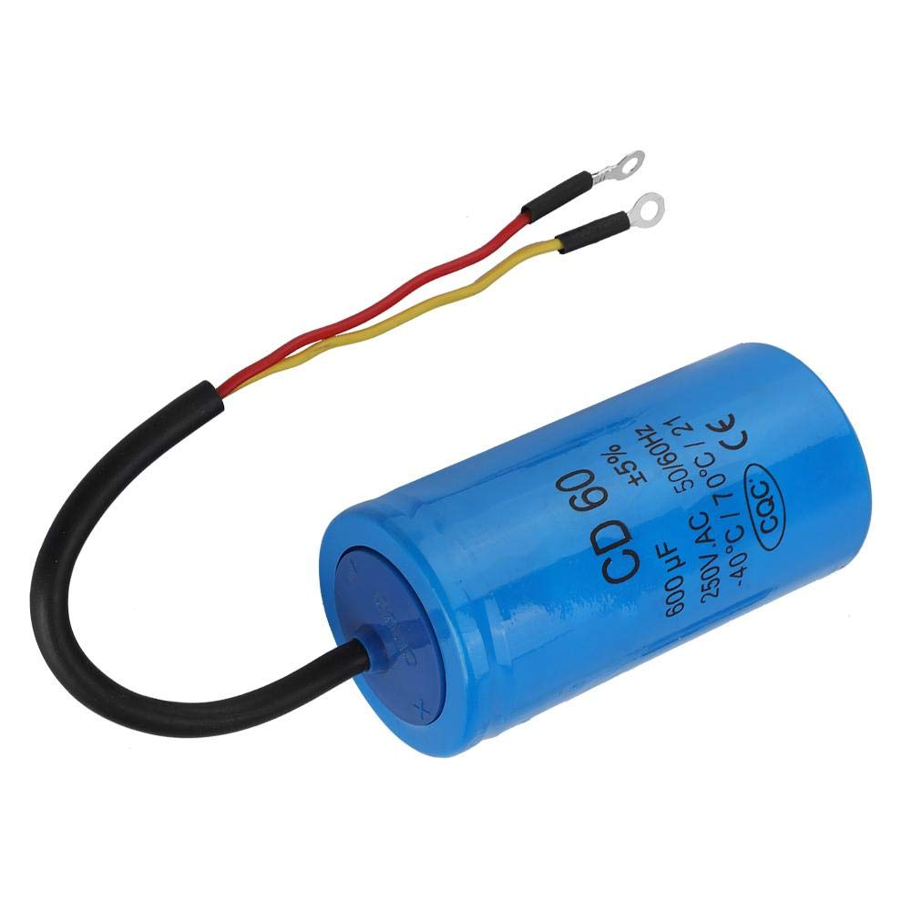 CD60 250uF 450V AC Appliance Motor Run Capacitor with Wire Lead OZ