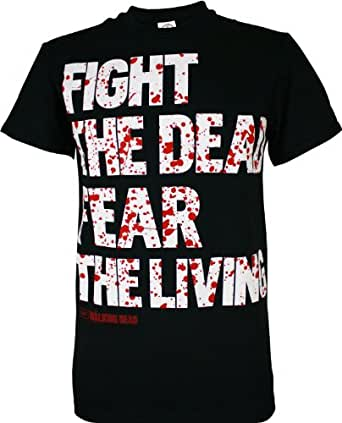 The Walking Dead Fight the Dead Men's T-Shirt, Black, Small
