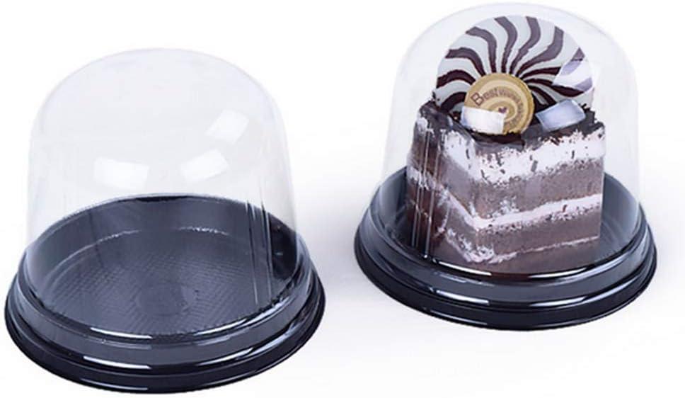 Cajas para tartas – Portabebés de plástico transparente – Recipiente individual para tartas – Caja de transporte para cupcakes, plástico, marrón, 3 inches: Amazon.es: Hogar