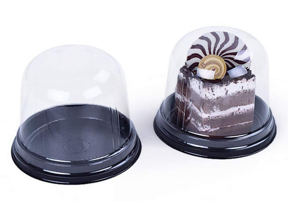 braun Single Room Cupcake Carrier Box Sets Kuchen-Box Transparent Kunststoff Kuppeltr/äger 3 inches plastik