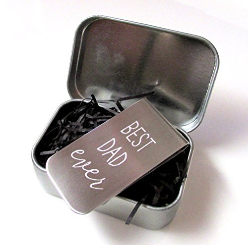 Best Dad Ever Money Clip | Gift for Dad | Father's Day Gift | Engraved Money Clip in Gift Tin