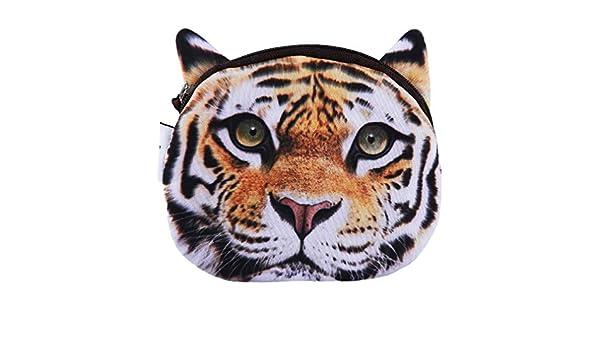 HYhy 3d Wild Animal Series monedero bolsa de maquillaje ...