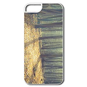 IPhone 5 5S Covers, Leafless Forest Sunlight White Cases For IPhone 5