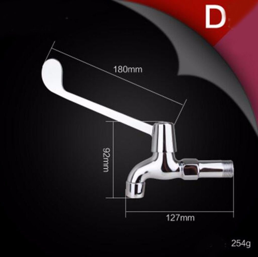 C NewBorn Faucet Kitchen Or Bathroom Sink Mixer Tap The Tap Long-Handle Water Tap Hospital Into Wall Water Tap Elbow Touch Type Water Taps E