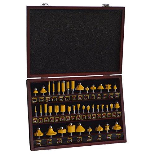 Serie Pro 700596 Set de brocas para fresadora en caja de madera, 40 piezas