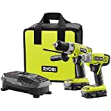 Ryobi P898 18-Volt Lithium-Ion Cordless Hammer Drill and Impact Driver Combo Kit B00N9H5GIM