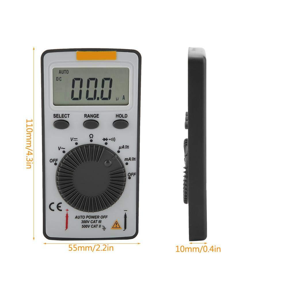 Strumento portatile automatico AC//DC retroilluminato Multimetro digitale portatile auto//manuale a 1999 conta ANENG AN101 Multimetro digitale tascabile