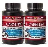 Fat loss diet - NATURAL L-CARNITINE 500MG - Carnitine metabolism - 2 Bottle (60 Tablets)