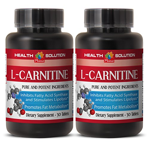 Fat loss extreme program - NATURAL L-CARNITINE 500MG - L carnitine now - 2 Bottle (60 Tablets)