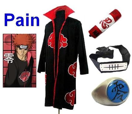 Sunkee Cosplay Naruto Pain Disfraz (Akatsuki Ninja Capa ...