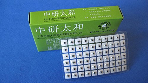 Ear Bead - Acupuncture Vaccaria Ear Seeds 600 pcs / box with English Ear Charts, Distribute by Manufacturer Zhongyan Taihe from Beijing
