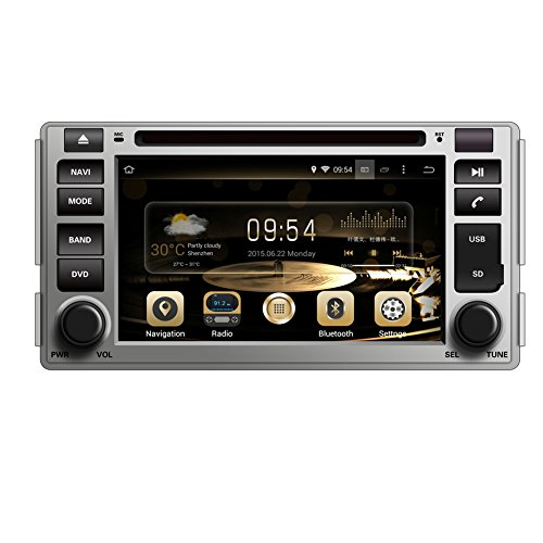 GPS Navigation Android 8.0 Car Stereo CD DVD Player In Dash Radio with 6.2