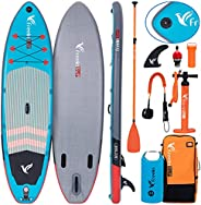 Freein Inflatable Stand Up Paddle Board∣Kayak Kayak Conversion Kit,Carry Bag,Leash, Fin,2 in 1 Paddle and Hand
