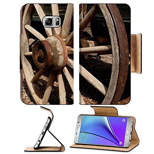 liili-premium-samsung-galaxy-note-5-flip-pu-leather-wallet-case-antique-wooden-stagecoach-wheel-phot