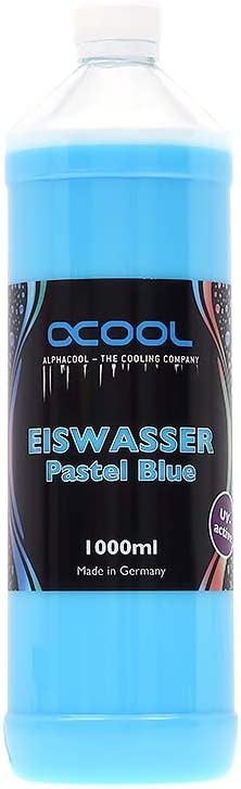 Alphacool 18553 Eiswasser Pastel Blue UV-Active premixed coolant 1000ml Water Cooling Water additives