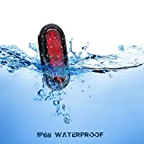 """LivTee Waterproof 6"""" Oval Red LED Trailer Lights"""