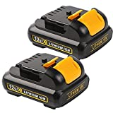 Enegitech 2 Pack 12V 2.0Ah Max Lithium-Ion Battery Packs for DEWALT DCB127 DCB120 DCB123