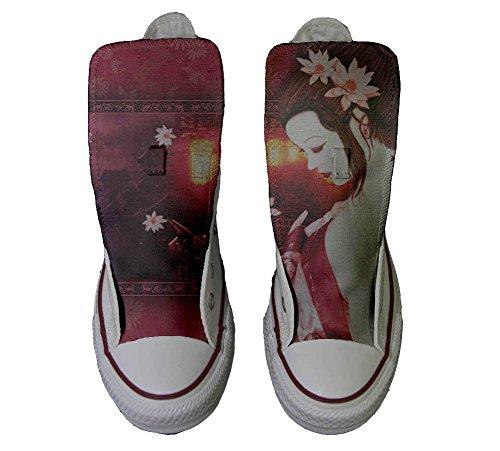 Conver Star Schuhe personalisierte Geisha Customized Hi All Converse Handwerk Schuhe qwpzZ1xB