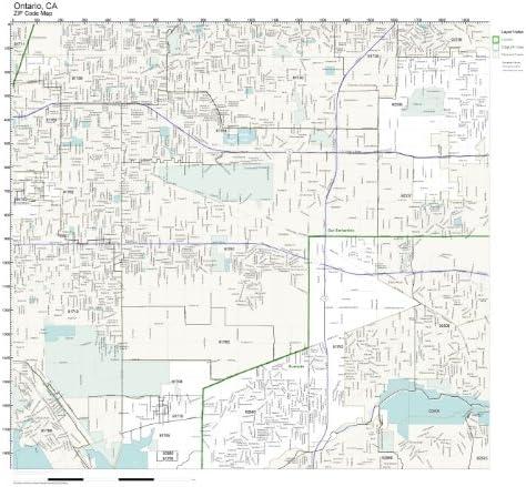 Ontario Ca Zip Code Map Amazon.com: ZIP Code Wall Map of Ontario, CA ZIP Code Map Not