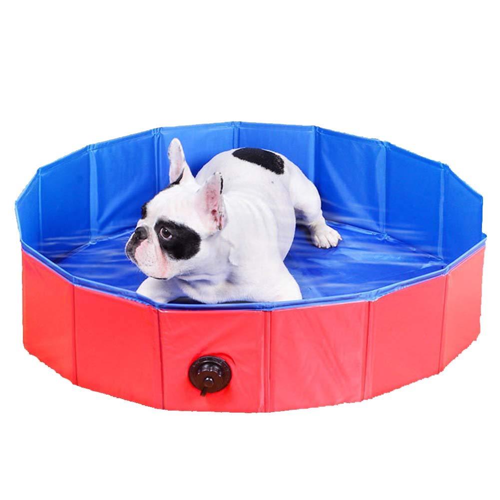 Dog Pet Bath Tub, Outdoor Portable Pet Foldable Cat Pet Bath Pool, Large 120  30cm