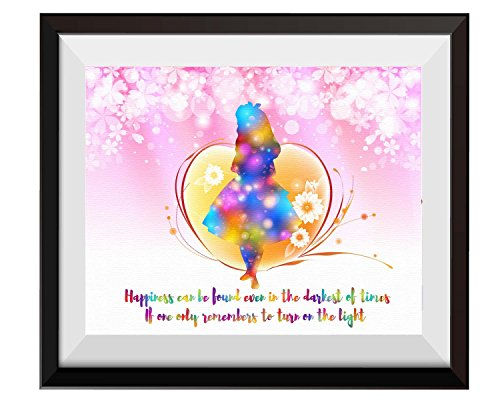 Uhomate Alice in Wonderland Alice Wonderland & Harry Potter Quotes Home Canvas Prints Wall Art Anniversary Gifts Baby Gift Inspirational Quotes Wall Decor Living Room Bedroom Artwork C088 (8X10)