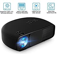 Joyhero SV-228 Full HD 4000 Lumens Home Cinema Projector Support 1080P Home Theater 1280 × 800 Pixels Multimedia Projector for Home Video Games PC Laptop PS4 Xbox and TV (White)