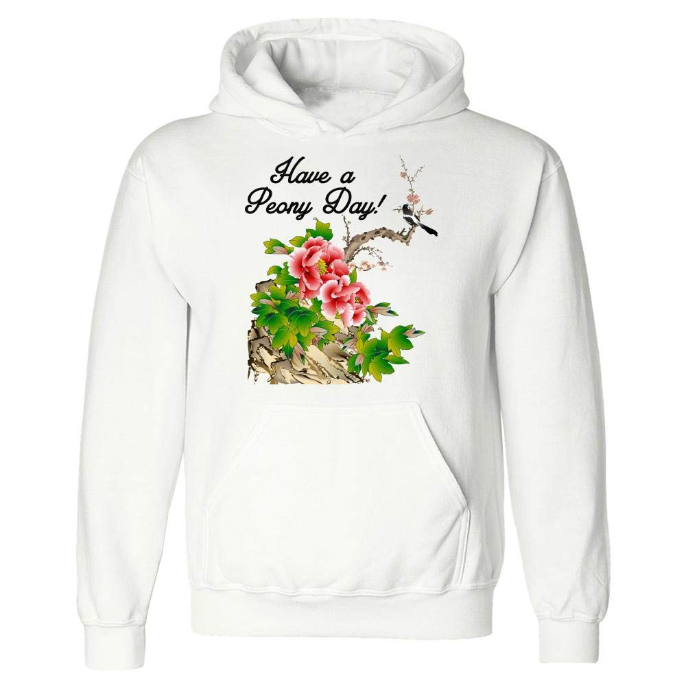 Funny Peony Hoodie Colorful Bouquet Pink Flower Blooms Paeonia Humor