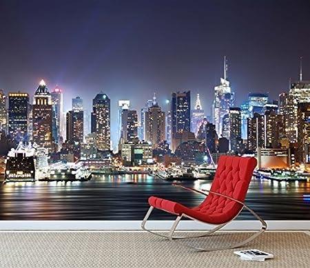 NEW YORK CITY SKYLINE Photo Wallpaper Wall Mural BLACK and WHITE 300cm x 240cm