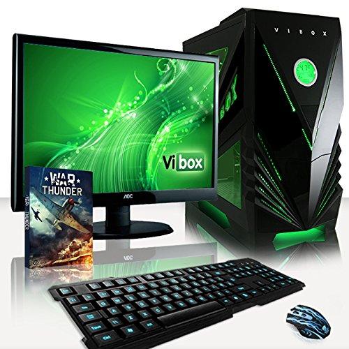 VIBOX Standard Paquet 3 - Gamer Gaming PC Ordinateur de bureau avec Ecran clavier et souris (4.2GHz AMD A8 Quad-Core Processeur Radeon HD 8570D Graphique Chip 1To Disque Dur 8Go RAM)