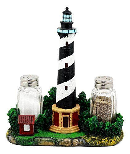 Ebros Scenic Cape Hatteras Lighthouse Salt And Pepper Shakers Holder Figurine 8