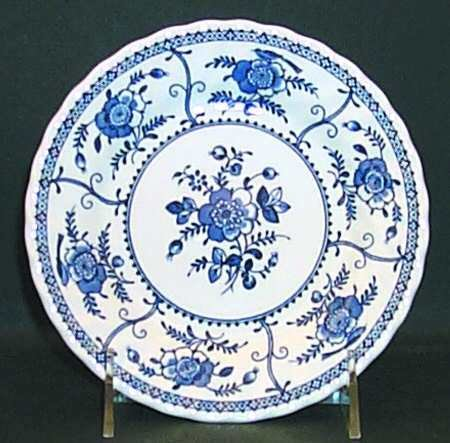 Johnson Brothers Bros China Indies Blue Pattern Bread Plate Made in England (England Bread Plate)