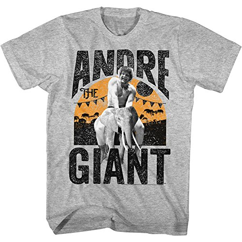 Ride Heavyweight T-shirt - Andre The Giant Icons Elephant Ride Adult Short Sleeve T Shirt XT