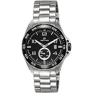 Timeforce TF3327M01M 45mm Silver Steel Bracelet & Case Mineral Men's Watch
