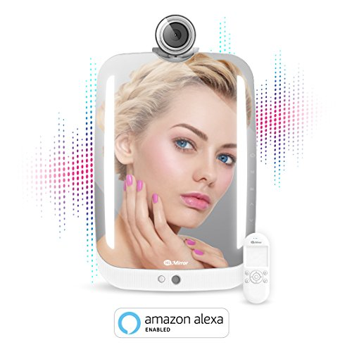 HiMirror Plus+ with Amazon Alexa voice service : Beauty smart mirror with LED makeup lights, your beauty consultant skin analyzer, innovative makeup mirror with AR virtual try-on by HIMIRROR