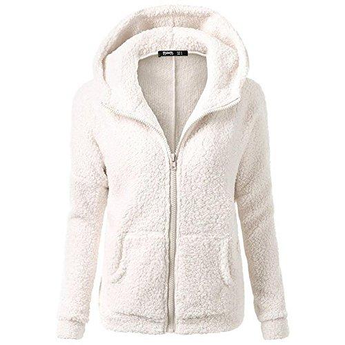 smartland-womens-winter-long-sleeve-full-zip-soft-fleece-hooded-jumper-hoody-jacket-coat-l-white