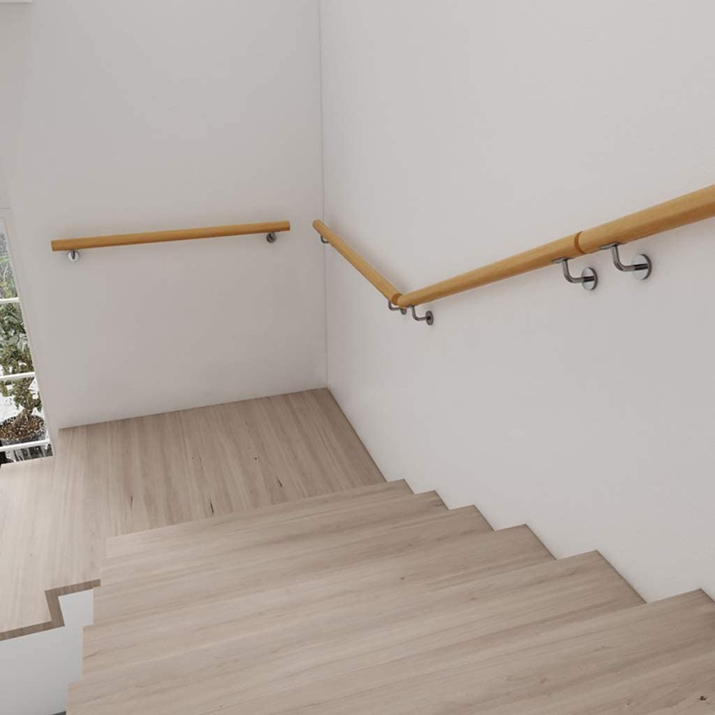 Mains courantes Escalier Main courante Main courante rambarde antiglisse bois de pin escalier Balustrades maison contre le mur int/érieur Corridor Loft Rampes personnes /âg/ées Rampes Statif WallMount,