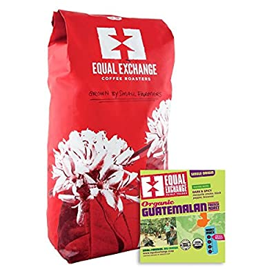 Equal Exchange Organic Coffee Guatemalan Medium Whole Bean Coffee 5 Lb.