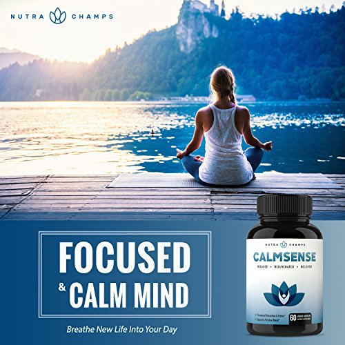 CALMSENSE Stress Relief Supplement - Calming Herbal Blend & Vitamin B  Complex - Keep Your Mind & Body Relaxed, Focused & Positive - Supports  Seratonin