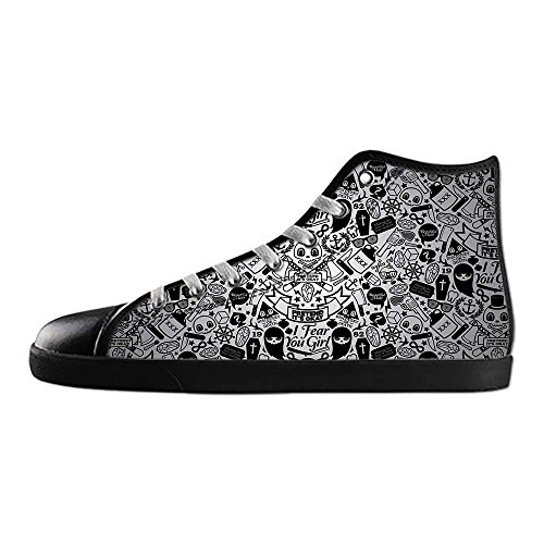 Dalliy Flower Sugar skull Mens Canvas shoes Schuhe Lace-up High-top Sneakers Segeltuchschuhe Leinwand-Schuh-Turnschuhe A