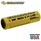 3.7V 2000mAh 18650 Rechargeable IMR LiMN Battery SAFER CHEMISTRY For Lighting, Security Systems, Digital Calipers, Measuring Tools, Pathway Lights, Cree LED Flashlights