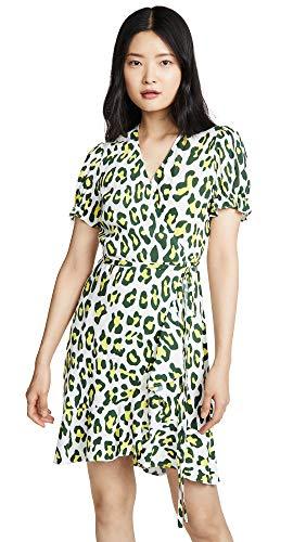 Diane von Furstenberg Women's Emilia Dress, Summer Leopard Sulfur, Print, Yellow, Small from Diane von Furstenberg