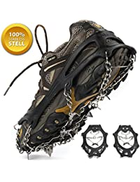 Unisex Multi-function Anti-slip Ice Cleat Shoe Boot Tread Grips Traction Crampon Chain Spike 1 Pair