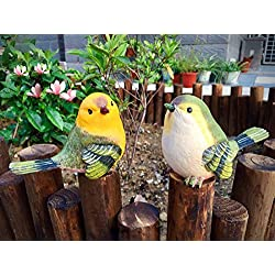 Bird Animal Garden Statues Figurine Funny Garden D¨¦cor Outdoor Sculpture Resin Lawn Ornaments Decor - Best Indoor Outdoor Decorations for Patio Yard Office and House