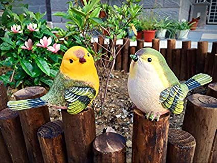 Bird Animal Garden Statues Figurine Funny Garden D¨¦cor Outdoor Sculpture  Resin Lawn Ornaments