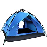Argus Le Automatic Camping Tent 2-3 Person 3 Season Waterproof Backpacking Tent With Sun Shelter Instant Setup Family Tents With Portable Carry Bag For Camping, Backpacking, Beach, Hiking(Blue) Review