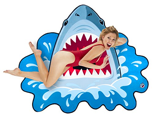 BigMouth Inc Gigantic Shark Beach Blanket– Fun Beach Blanket Perfect for the Beach, Pool, Lake and More, Machine Washable
