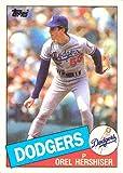 #10: 1985 Topps Baseball #493 Orel Hershiser Rookie Card