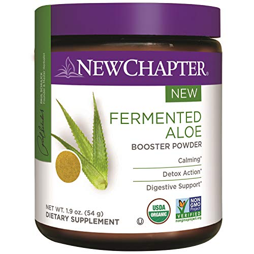 Artichoke Powder (New Chapter Organic Aloe Powder – Fermented Aloe Booster Powder for Calming + Detox Action + Digestive Support – 45 Servings)